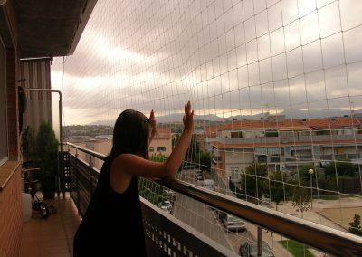 red protección balcón