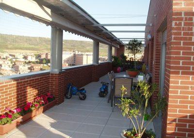 malla seguridad terraza atico