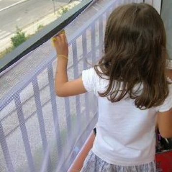 protección barandilla balcón