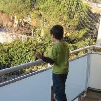 malla seguridad niños balcones